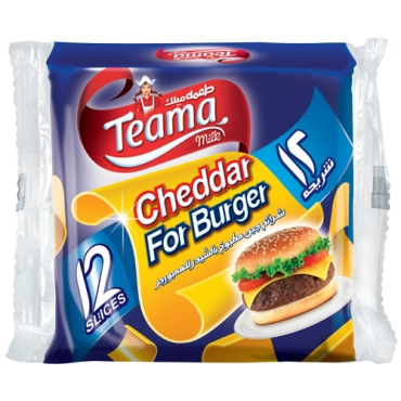 TEAMA CHEDDAR SLICES FOR BURGER