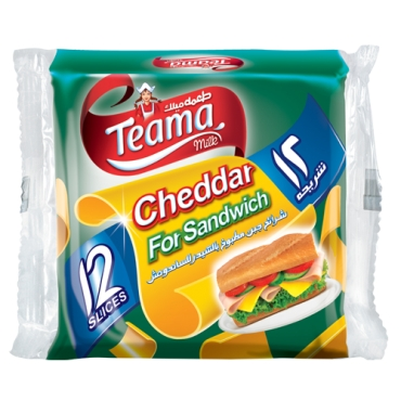 TEAMA CHEDDAR SLICES FOR SANDWICH